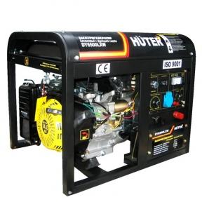 Сварочный бензиновый генератор Huter DY6500LXW с колёсами