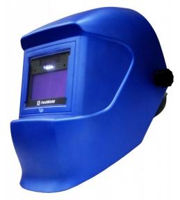 Маска сварщика Foxweld КОМЕТА с АСФ с подсветкой синяя