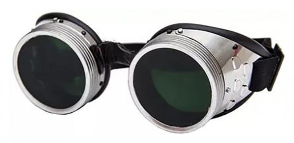 Очки газосварщика круглые металлические