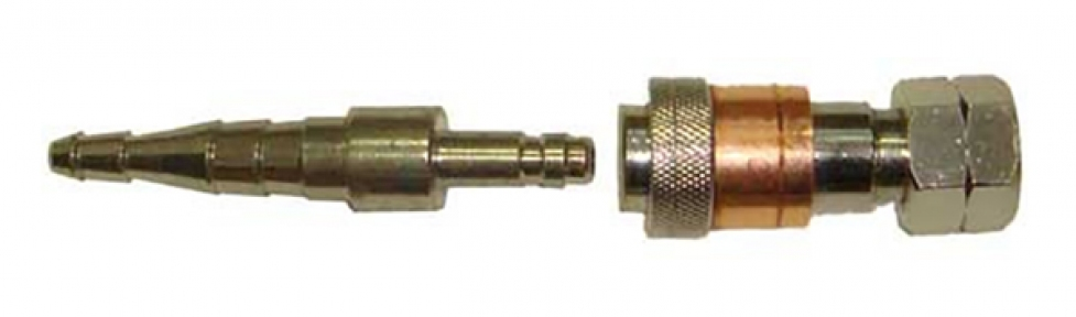 Соединение быстросъемное на рукав 6/9 мм, кислород, встроенный КО