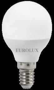 Лампа светодиодная Eurolux в форме шара (G45), 230 В