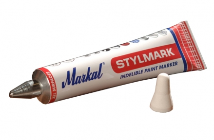 Тюбик-маркер Markal STYLMARK белый универсальный